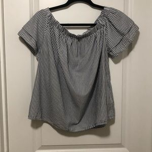 Woman's Old Navy Boatneck Strip Top